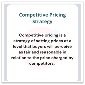 Competitive pricing strategy to stand out from the competition