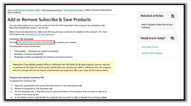 Add or remove subscribe & save products