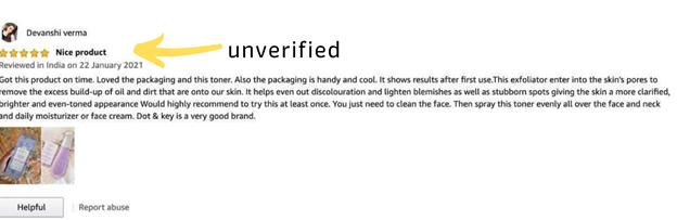 Unverified Reviews
