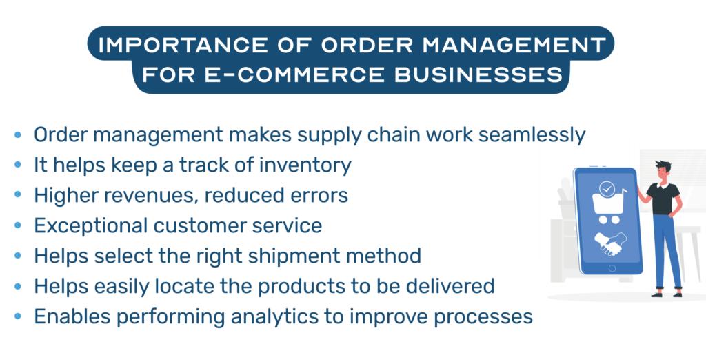 importance of  eCommerce order management system
