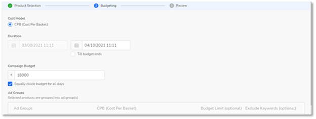 Flipkart budget rule