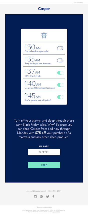 Email campaign for eCommerce content strategy